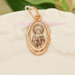 Серебряный образок со Святым Покровителем (позолота) фото