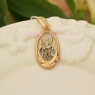 Серебряный образок с позолотой св. Валентина фото