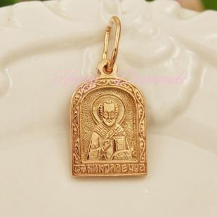 Серебряный образок Святого Николая Чудотвореца фото