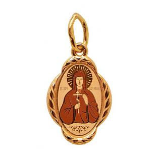 Золотая иконка Святая Валентина
