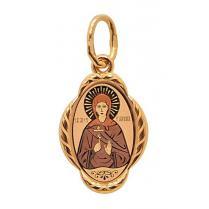 Золотая иконка Святая Галина