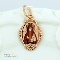 Золотая иконка Святая Елизавета
