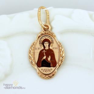 Золотая иконка Святая Наталья