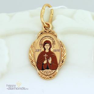Золотая иконка Святая Валерия