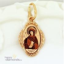 Золотая нательная иконка Святая Маргарита