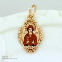 Золотая иконка Святая София