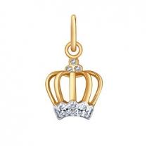 Подвеска золотая в форме короны