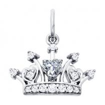 """Подвеска """"Серебряная корона"""" 94031215"""