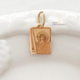 Золотой нательный образок Ангел - Хранитель фото