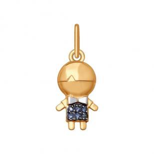 Золотая подвеска с мальчиком 035420