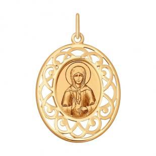 Золотая икона Матрона арт 104126