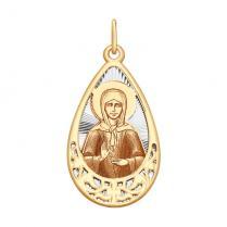 Золотая икона Святая Матрона арт 104128