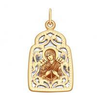 Золотая икона Семистрельная БМ арт 104134