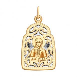 Золотая икона Святая Матрона арт 104135