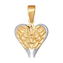 """Золотая подвеска """"В моем сердце"""""""