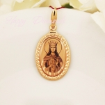 Золотая нательная икона с ликом святой (на выбор)