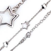 Серебряный браслет со звездочками
