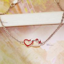 Серебряный браслетик Love Kitty