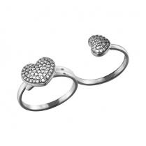 Кольцо на два пальца LOVE