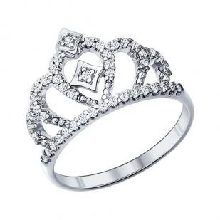 Кольцо Королева серебро