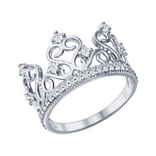 "Кольцо ""Корона"" фианиты 94011217"
