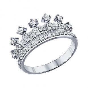 Кольцо Корона серебро фото