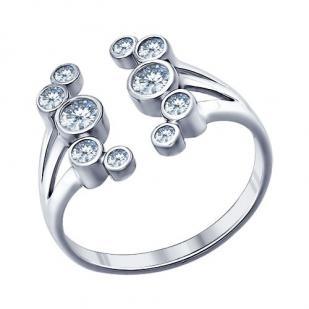 Кольцо Роса серебро фото