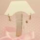 Золотые серьги с фианитами на петельке