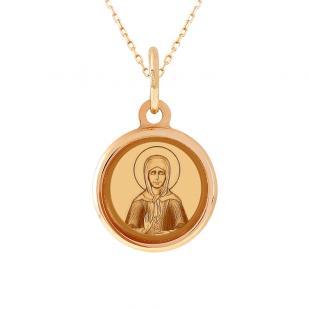 Детская золотая икона святой Матроны