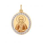 Золотой нательный образок св. Матроны
