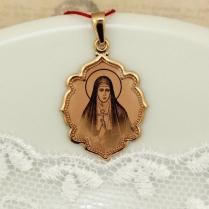 Золотая нательная икона Святая Елизавета