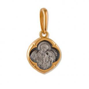 Серебряный медальон с Ангелом - Хранителем фото