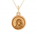 Детская золотая икона Казанской Божией Матери