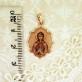 Золотая нательная икона Святая Анна