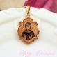 Золотая нательная икона Святая Евгения
