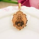 Золотая нательная икона Святая Ксения