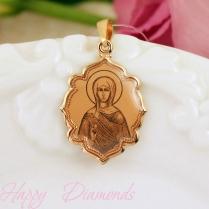 Золотая нательная икона Святая Мария
