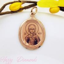 Золотой образок Святой Матроны