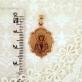 Золотая нательная икона Святая Лариса