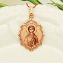 Золотая нательная икона Святая Надежда
