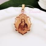 Золотая нательная икона Святая Татьяна