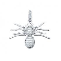 Серебряная подвеска в форме паука Sokolov