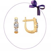 Золотые серьги для малыша 026838