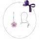 Серебряные серьги с розовым цветочком арт. 94021819