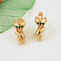 Золотые серьги Лисичка