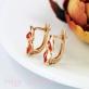 Золотые серьги с бриллиантами Рыжая лиса