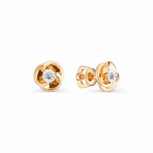 Красивые серьги гвоздики с бриллиантами