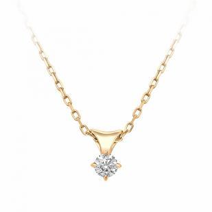 Золотая цепочка с кулоном и бриллиантом 6078-100 фото