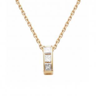 Золотая цепочка с бриллиантами принцесса 6113-100 фото