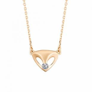 Золотая цепочка с кулоном и бриллиантом 6173-100 фото